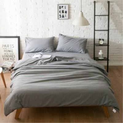 床上用品 北歐簡約超柔家紡純色床笠四件套床墊套批發