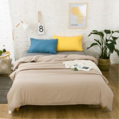 床上用品 簡約床上用品家紡 新品北歐混搭純色超柔棉床笠四件套 床單三件套