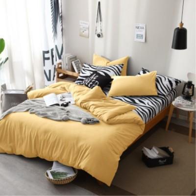 床上用品 廠家直銷19新品純色簡約民宿床上用品四件套 床單員工三件套批發