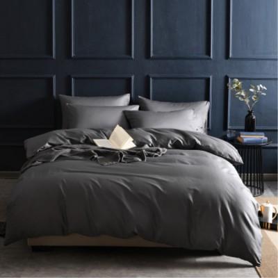 床上用品 供應家紡純棉床上用品 60支純色貢緞長絨棉被套全棉四件套