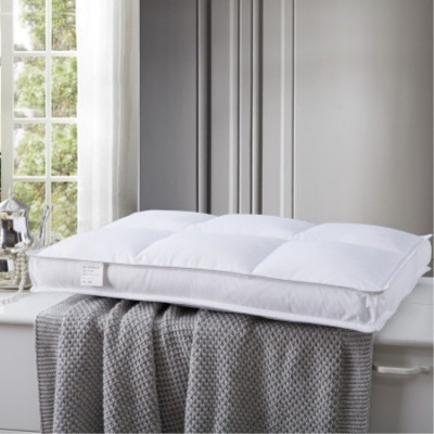 床上用品 新品日式水洗純棉枕心 羽絲絨枕芯 中低方塊酒店立體枕頭超柔護頸