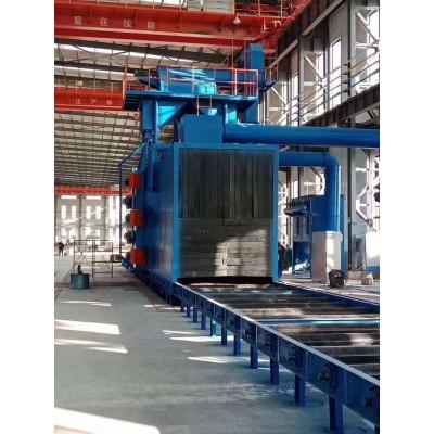 供应通过式抛丸机 角钢表面强化通过式抛丸机 槽钢表面除锈抛丸机