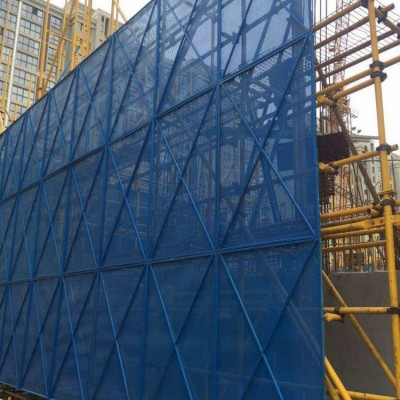 爬架网 工地外架安全防护网片 工程建筑爬架网