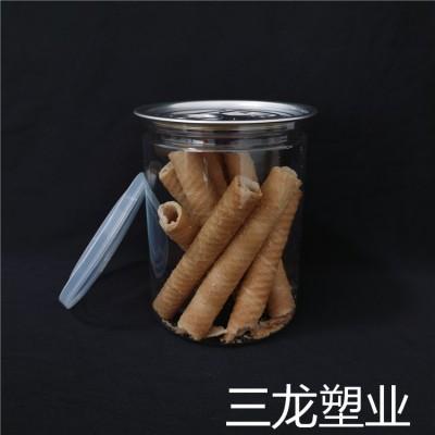 透明花茶罐 塑料食品罐 厂家批发