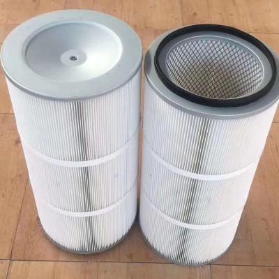 工业除尘滤筒 覆膜聚酯纤维滤筒 粉尘阻燃防静电 规格齐全 可定制