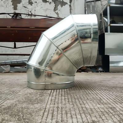 长期批发304不锈钢风管支持定制镀锌圆形弯头厂排烟管道配件镀锌圆形弯头