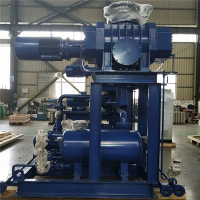 罗茨真空泵机组 低噪音三叶罗茨真空泵机组JZJQY2500-4