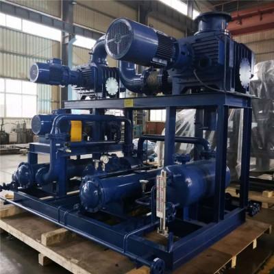 罗茨真空泵机组 高真空大抽速三叶罗茨真空泵机组JZJQY2500-4