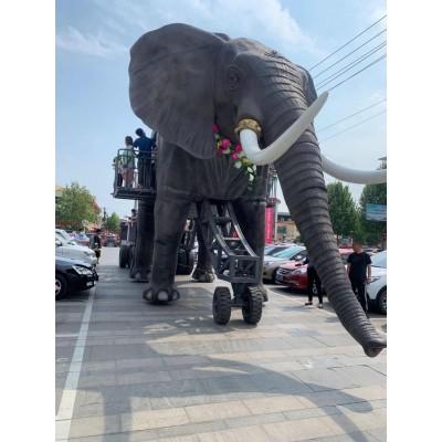 机械巡游大象展案例巨无霸恐龙出租远古动物模型租赁出售