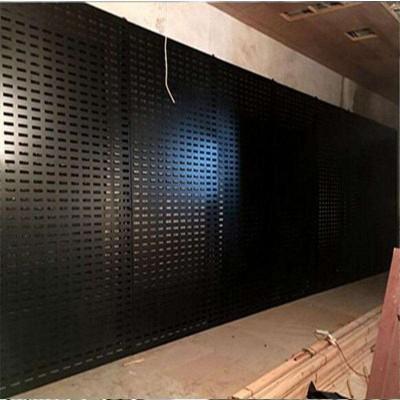 定做长方孔冲孔瓷砖挂板 黑色烤漆瓷砖展示架高清大图