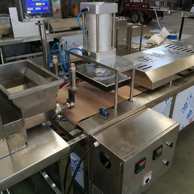 电加热压饼机工作量大  鸡肉卷压饼机  手抓饼压饼机