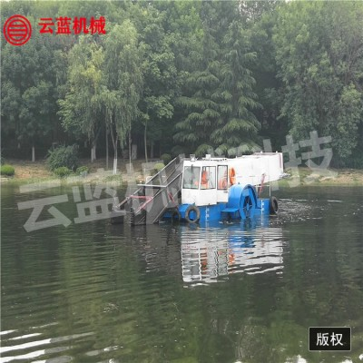 江苏水草水葫芦等水生植物打捞船 水草收割船  垃圾打捞船 全自动保洁船