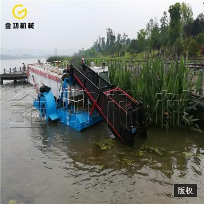 中型全自动割草船  水葫芦收割打捞船  水浮莲打捞船