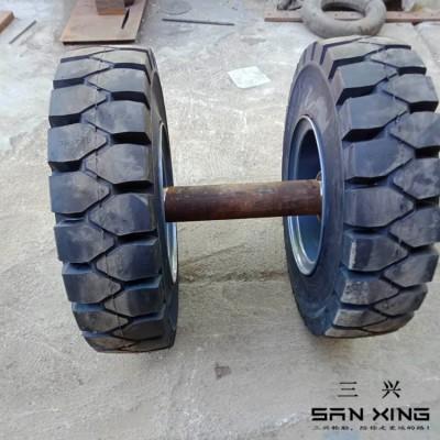 开挖隧道台车轮 隧道物资供应 拖车实心轮 车轴叉车轮胎 值得信赖