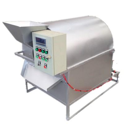 电磁滚筒式连续炒锅 小型温控电加热滚筒滚筒花生炒料机 大型滚筒烘干机
