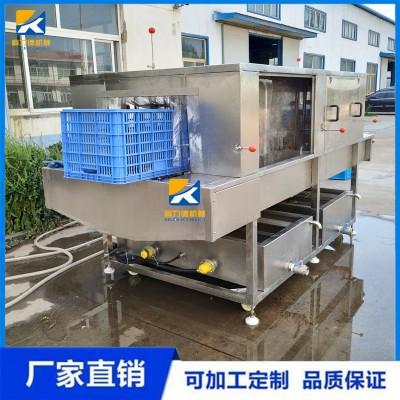 商用洗框机 净菜加工食品筐清洗机 高压喷淋热碱水去油污洗框机厂家