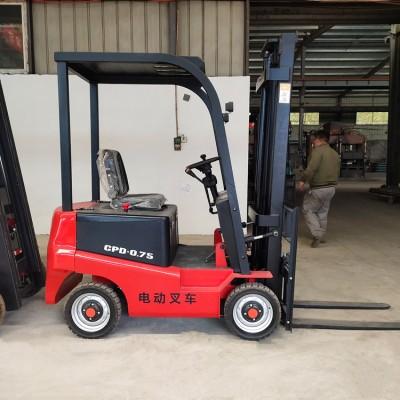电动叉车升降 电动叉车小型 0.75吨电动叉车