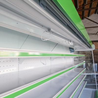 铭洋销售商超设备 水果蔬菜保鲜柜 豪华风幕柜 立式风幕柜