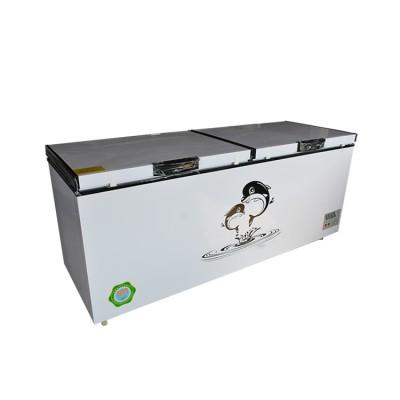 大容量卧式冷柜 商用卧式冷柜 冷藏冷冻柜 双开门冷柜龙飞