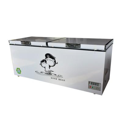 龙飞销售商用大容量卧式冷柜 厨房卧式冷柜 双开门卧式冷柜