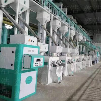 大米加工設備 日產25噸中型成套大米加工設備生產線
