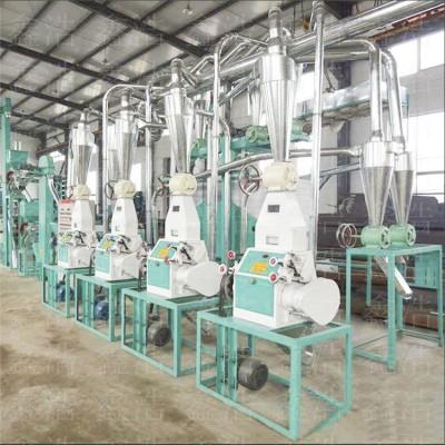 玉米磨面机 六组面粉机全自动小型面粉机加工设备